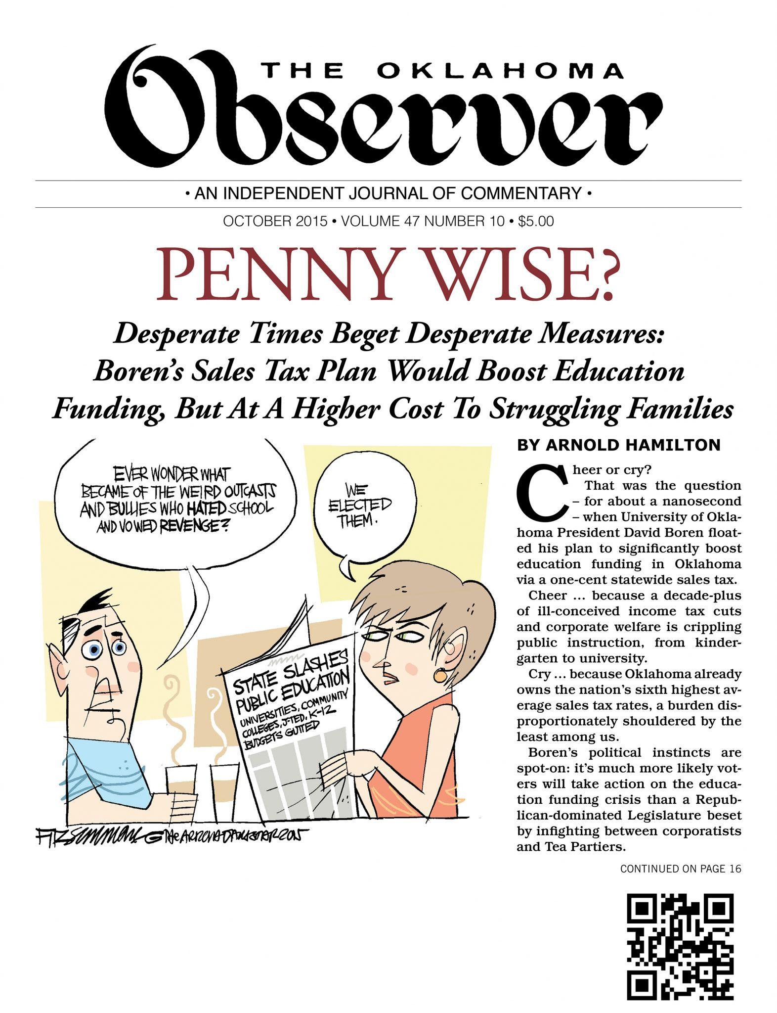 October 2015 Oklahoma Observer